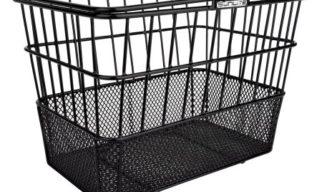 black bike basket